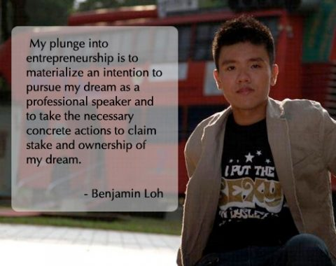 Benjamin Loh, final year Accountancy undergraduate at the SMU and founder/owner of Speaker's Flare Training & Consultancy